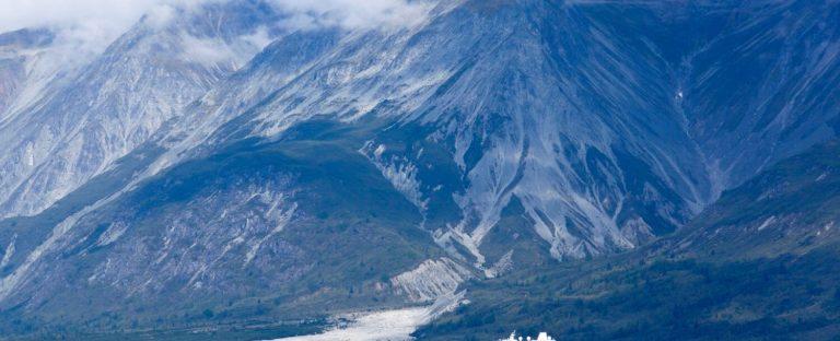 Side of mountains in Alaska