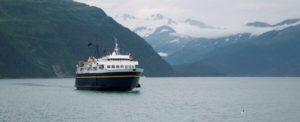 A cruise ship in Juneau, Alaska