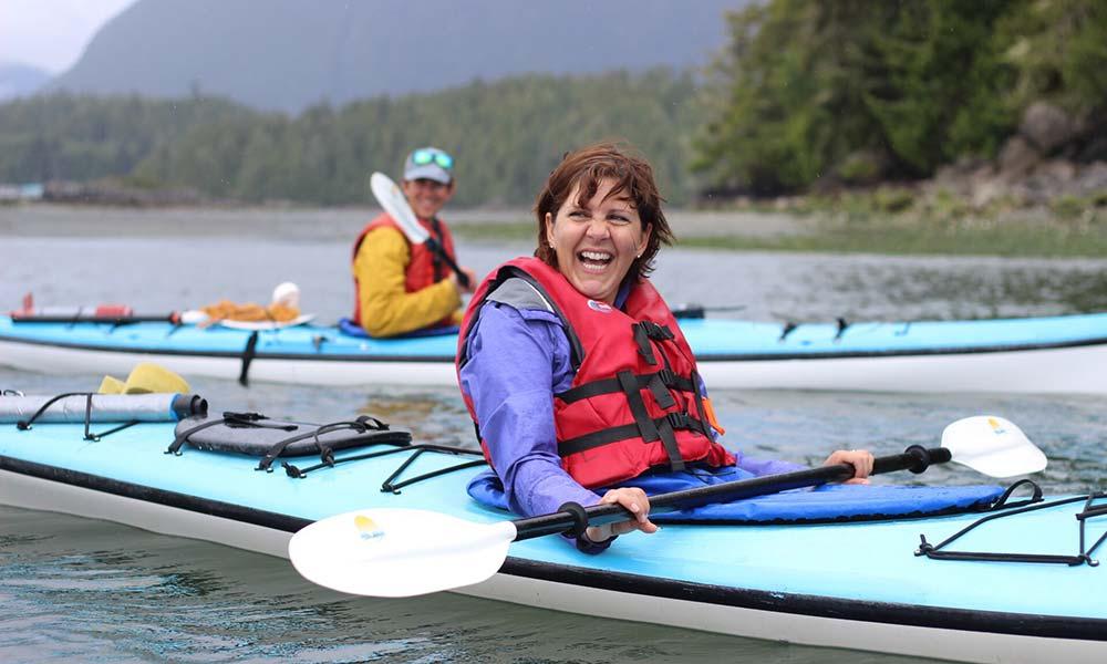 Women Sea Kayaking in Juneau Alaska