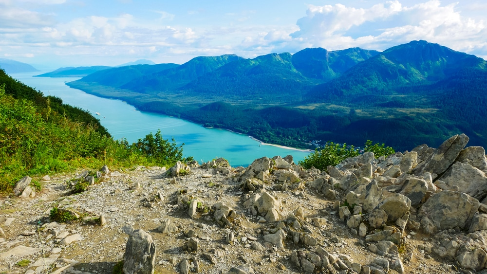 Stunning views from the top of the Mountain Juneau hiking trail