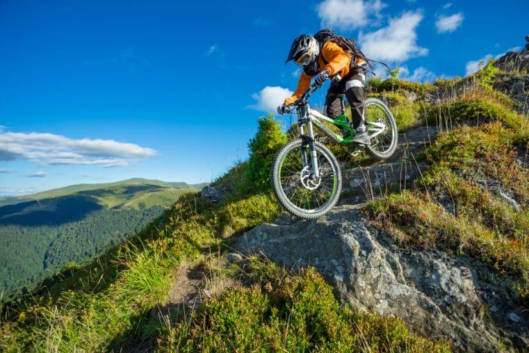 Enjoy riding the many mountain biking trails near downtown Juneau