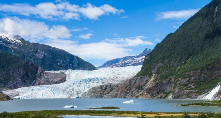 The Majestic Mendenhall Glacier near our downtown Juneau hotel